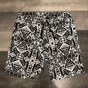 FOREVER 21 Tribal Print drawstring shorts L